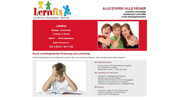 Lernfix Haselünne Hausaufgaben Betreuung